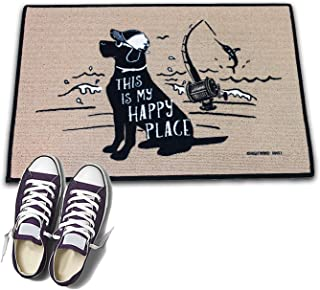 product image for HIGH COTTON Welcome Doormat - This is My Happy Place Fishing with The Dog