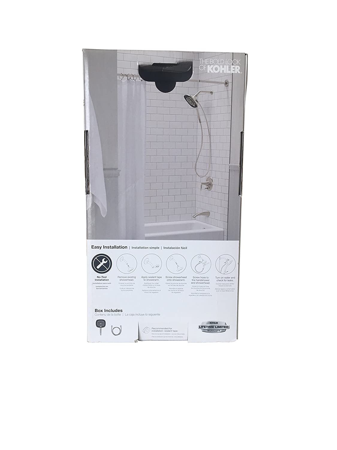 Kohler R77634 Bn Converge Dual 5 Spray Hand Held Shower Head Combo