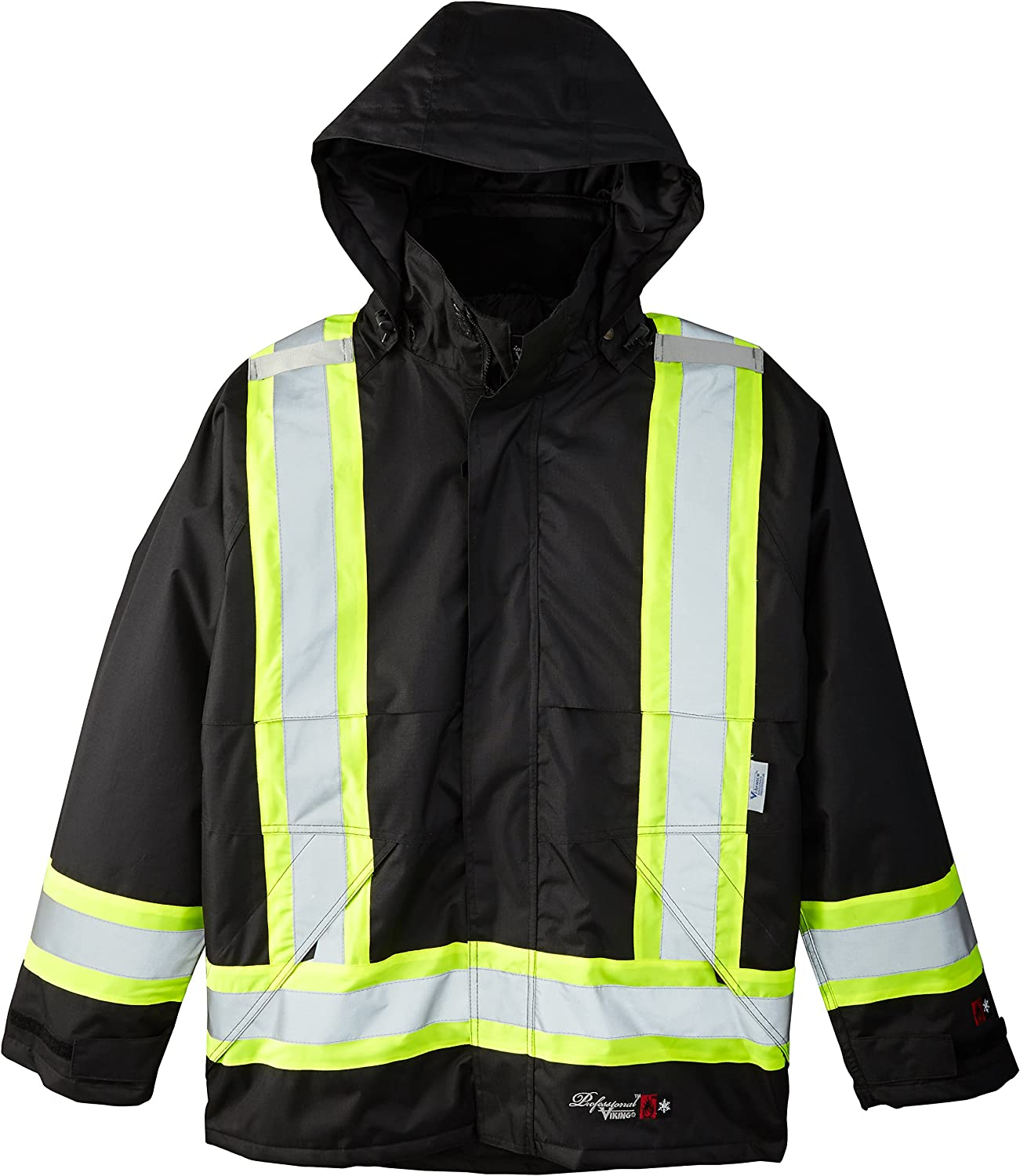 Medium Viking Professional Insulated Journeyman FR Waterproof Flame Resistant Jacket Black