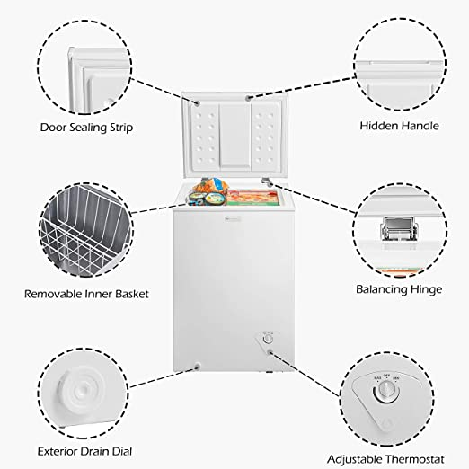 Amazon Com Emerson Cf350 3 5 Cubic Foot Chest Freezer Appliances