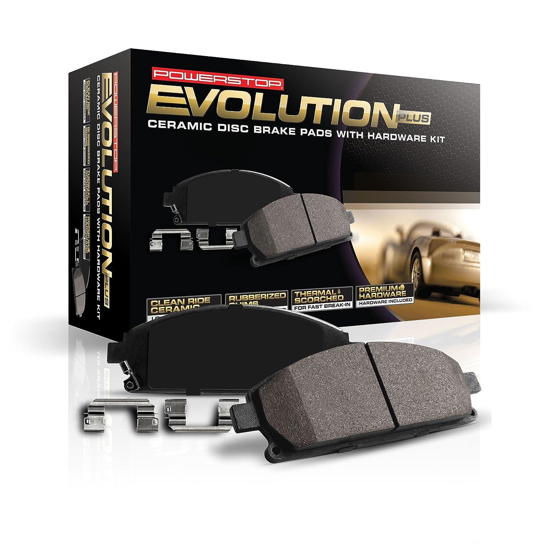 Power Stop 17-1733 Z17 Evolution Plus Clean Ride Ceramic Brake Pad with Premium Hardware Kit Included