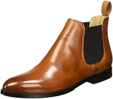 Melvin & Hamilton Jessy 1, Chelsea Boots Femme, (Crust Tan/Ela.DK.Brown/Hrs Crust Tan, Elast. DK.Brown, Hrs), 41 EU