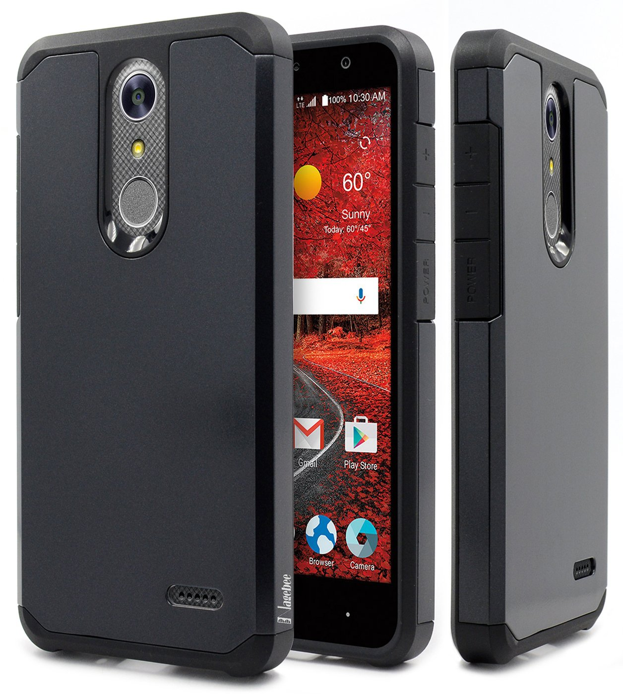 NageBee Design Premium [Heavy Duty] Defender [Dual Layer] Protector Hybrid  Cover Case Compatible with ZTE Blade Spark (Z971) / ZMax One (Z719DL) /