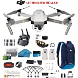 DJI Mavic Pro Platinum - Drone - Quadcopter - 4K Professional Camera Gimbal - Bundle - Kit - with 2 Batteries - with Must Have Accessories