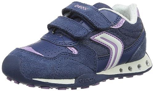 Geox Jr New Jocker a, Zapatillas para Niñas, Azul (Avio/lilacc4259), 34 EU