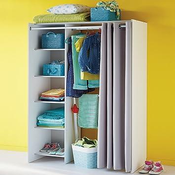 Store Kit d\'aménagement de placard avec rideau L123cm: Amazon.fr ...