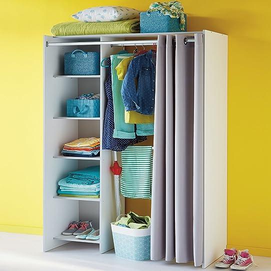 store kit damnagement de placard avec rideau l123cm - Placard Avec Rideaux