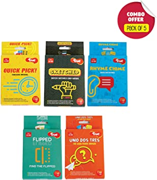 Toiing Card Games (Combo Pack of 5 - Age 6 & Above)