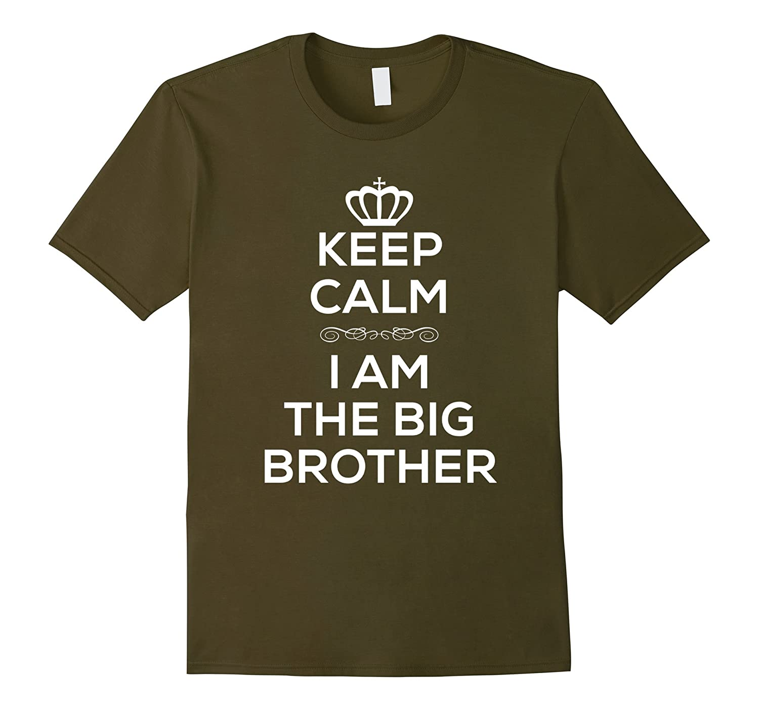 Keep Calm I Am The Big Brother T Shirt for Boys Men.-CL