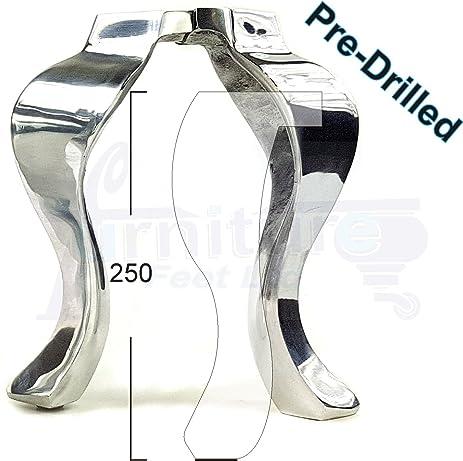Knightsbrandnu2u 4X Chrome Queen Ann Furniture Legs Metal Furniture Feet  For Sofas, Chairs, Stools
