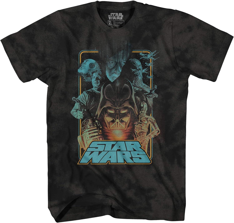 STAR WARS Mens Classic T-Shirt Mens Fashion Shirt - Darth Vader, C3PO, R2D2 & Strom Trooper