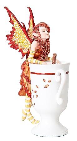 PTC 6.25 Inch Cider Fairy with Mug and Cinnamon Stick Statue Figurine