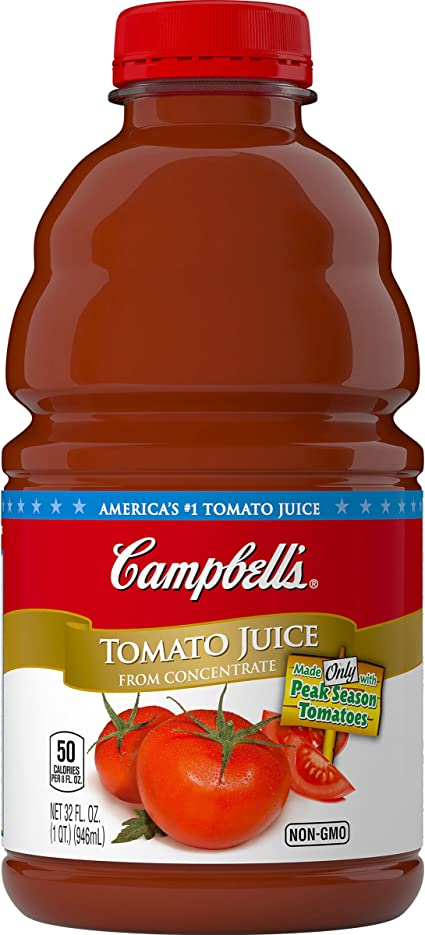 Campbell/'s Tomato Juice Bottle 32 oz Pack of 8