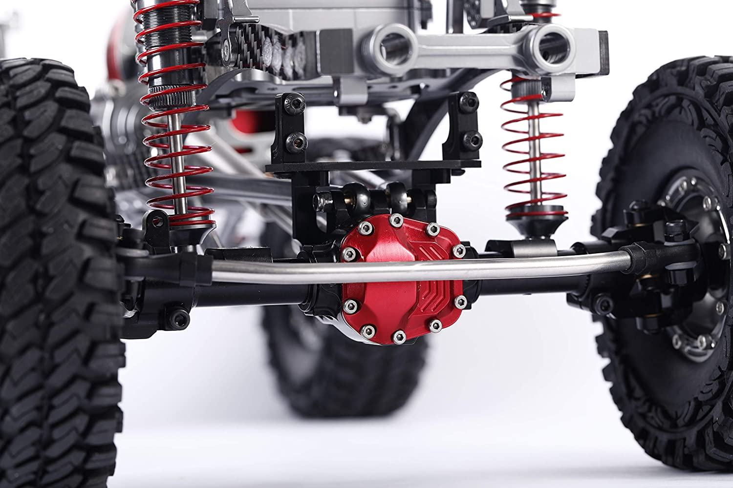 Silver Aluminum Universal Alloy Front Axle and Rear Axle for 1:10 Axial SCX10 RC Model Crawler Car