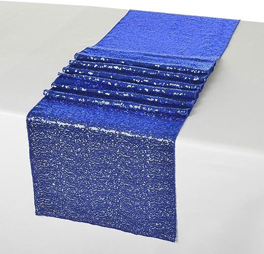 shinybeauty 13 x 54inch-royal azul Lentejuelas camino de mesa para ...