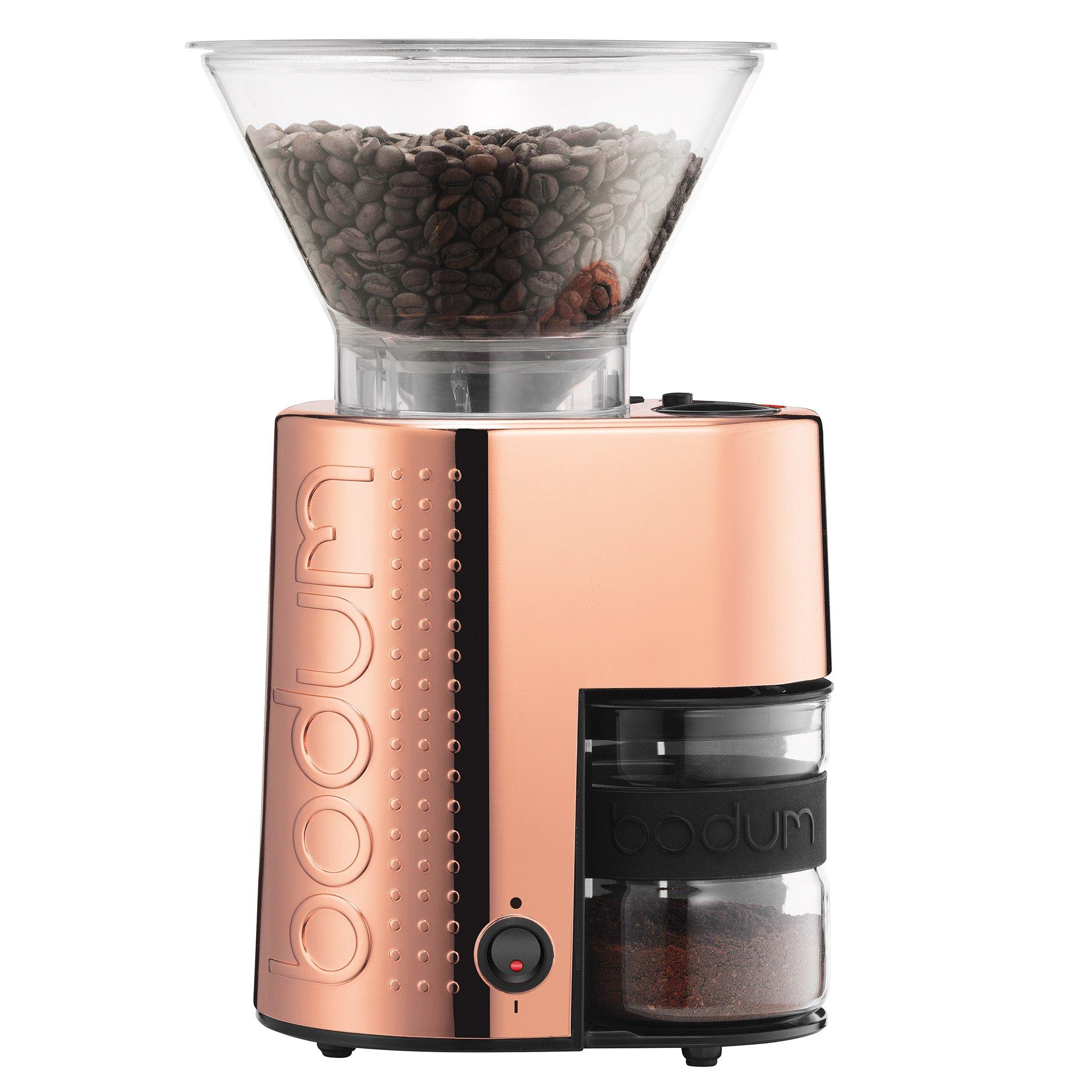 Bodum 10903-18US-1SB Bistro Coffee Grinder, Shiny Copper