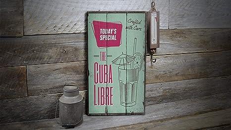Ced454sy The Cuba Libre Cartel Sign, Ron And Coca Cola, Come ...