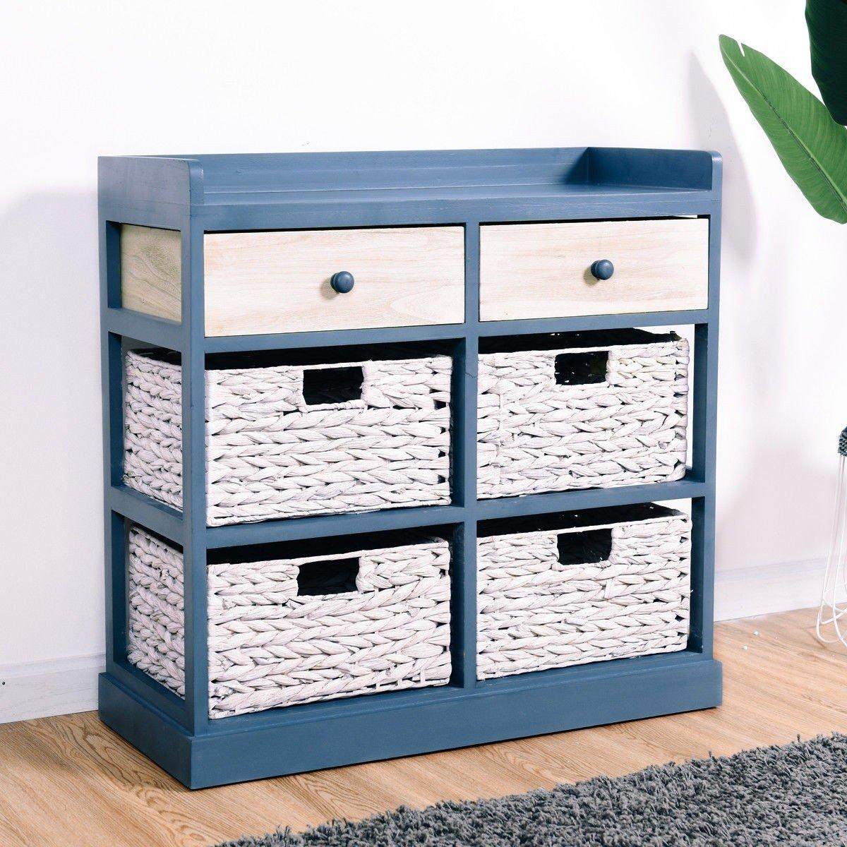 BESTChoiceForYou Cabinet Table Storage Side Wood Drawers Console Sideboard Cupboard W Furniture End Vidaxl White Baskets Drawer Door Home by BESTChoiceForYou (Image #2)