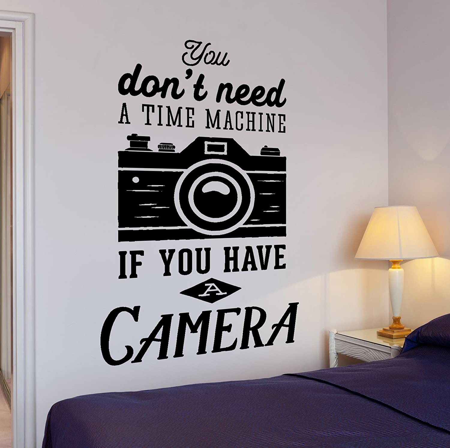 WallStickers4ever Large Wall Vinyl Decal Motivation Photograph Quote If You Have A Camera Decor z4301 Silver Metallic
