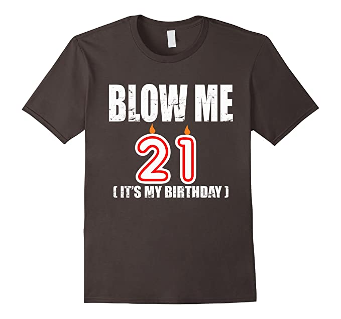 Mens Happy 21st Birthday Party T Shirt 21 Years OLD Gift 3XL Asphalt