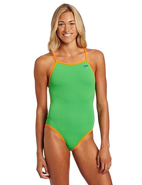 84db23e1b20a5 Amazon.com   Speedo Women s Solid Reversible Extreme Back Endurance ...
