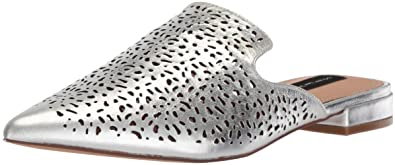 3a04a4c9741 STEVEN by Steve Madden Women s Valent-C Mule Silver Leather 6.5 ...