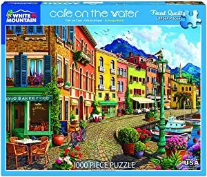 White Mountain Puzzles Cafe On The Water 1000 Piece Puzzle, 1 EA