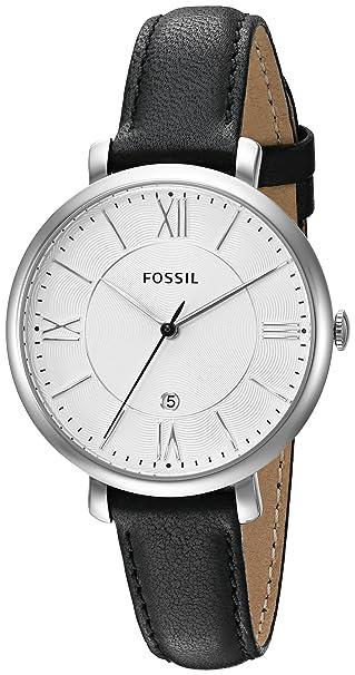 Fossil Reloj Mujer de Analogico con Correa en Cuero ES3972P: Fossil: Amazon.es: Relojes