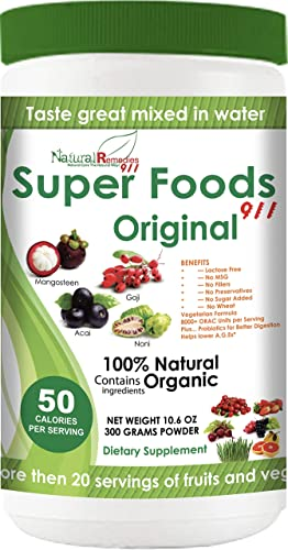 NR911 Superfoods 911 Original – Noni, Mangosteen, Goji, Acai, Pomegranate Blended with numerous Organic Fruits, Vegetables and Herbs That Doctors and Experts Recommend Daily for Optimum Health