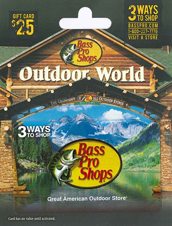 .com: bass pro shops holiday $25 gift card: gift cards