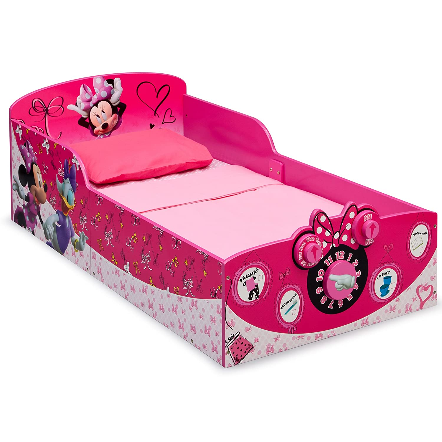 Disney Delta Children Interactive Wood Toddler Bed, Minnie Mouse BB86930MN