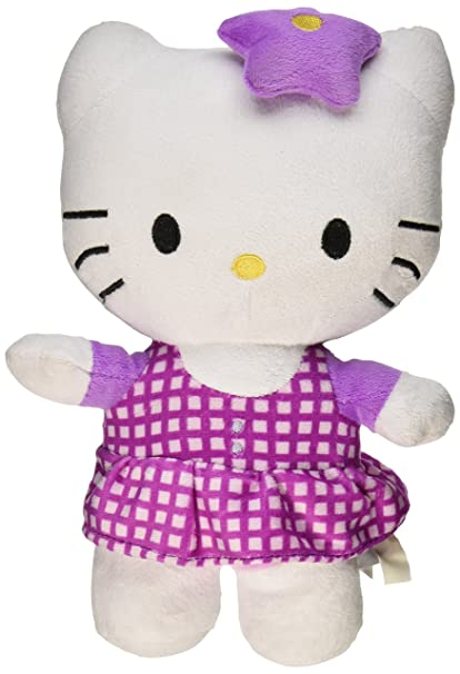5f794536e Amazon.com: Hello Kitty Plush Doll Toy - Purple Star Bow w/ Pattern ...