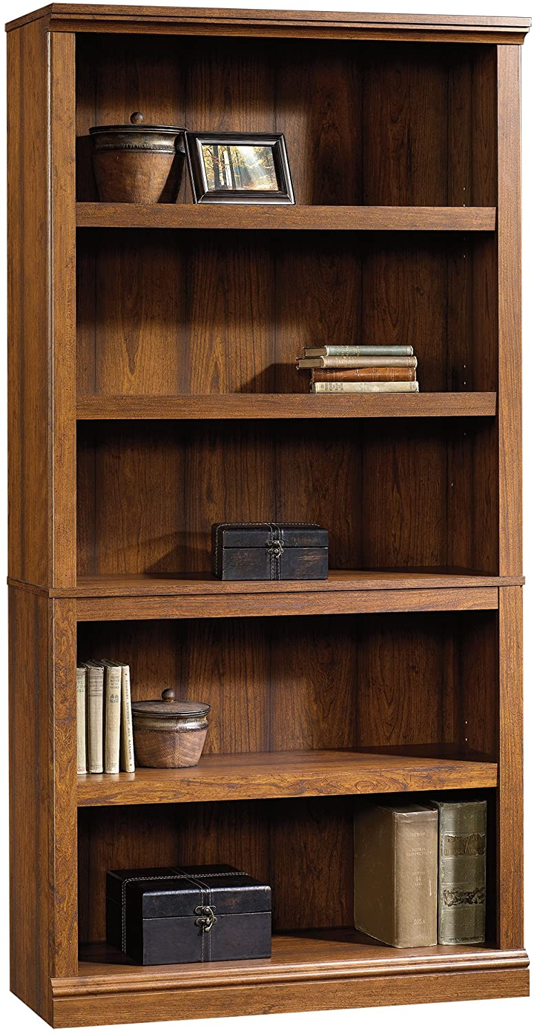 Sauder Sauder 5-Shelf Bookcase, Washington Cherry finish
