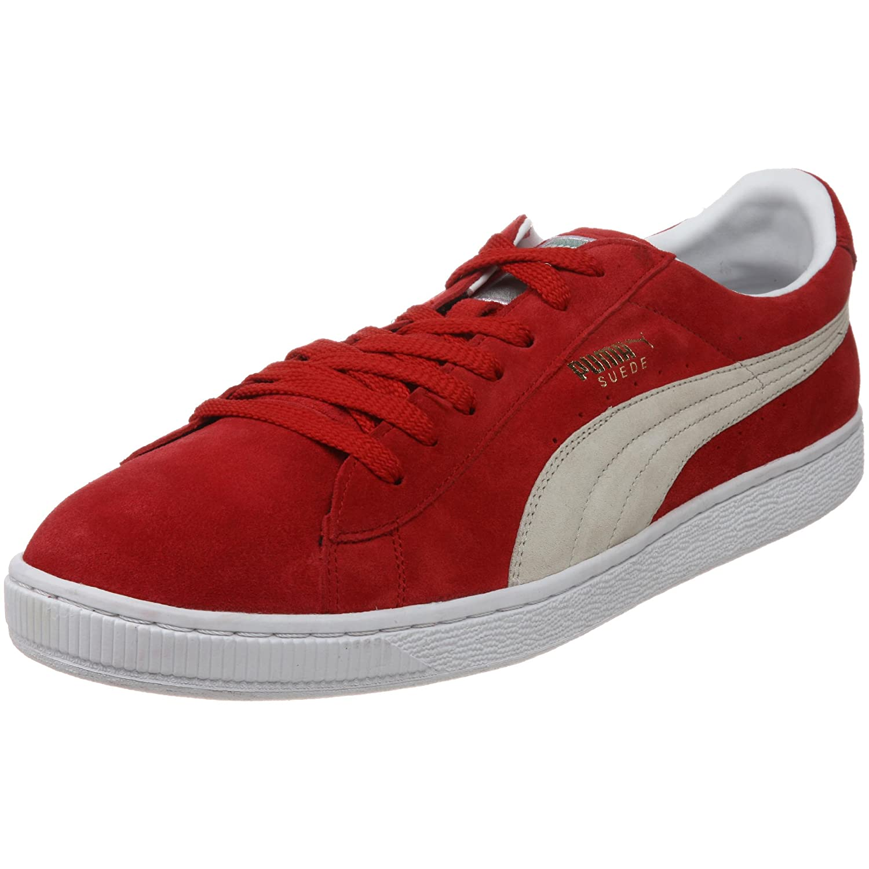 PUMA Adult Suede Classic Shoe B001CH9E9I 7.5 M US|Ribbon Red/White