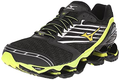 big sale 9a6ab 4cd1b ... order mizuno mens wave prophecy 5 running shoe black yellow ea451 c2fb5