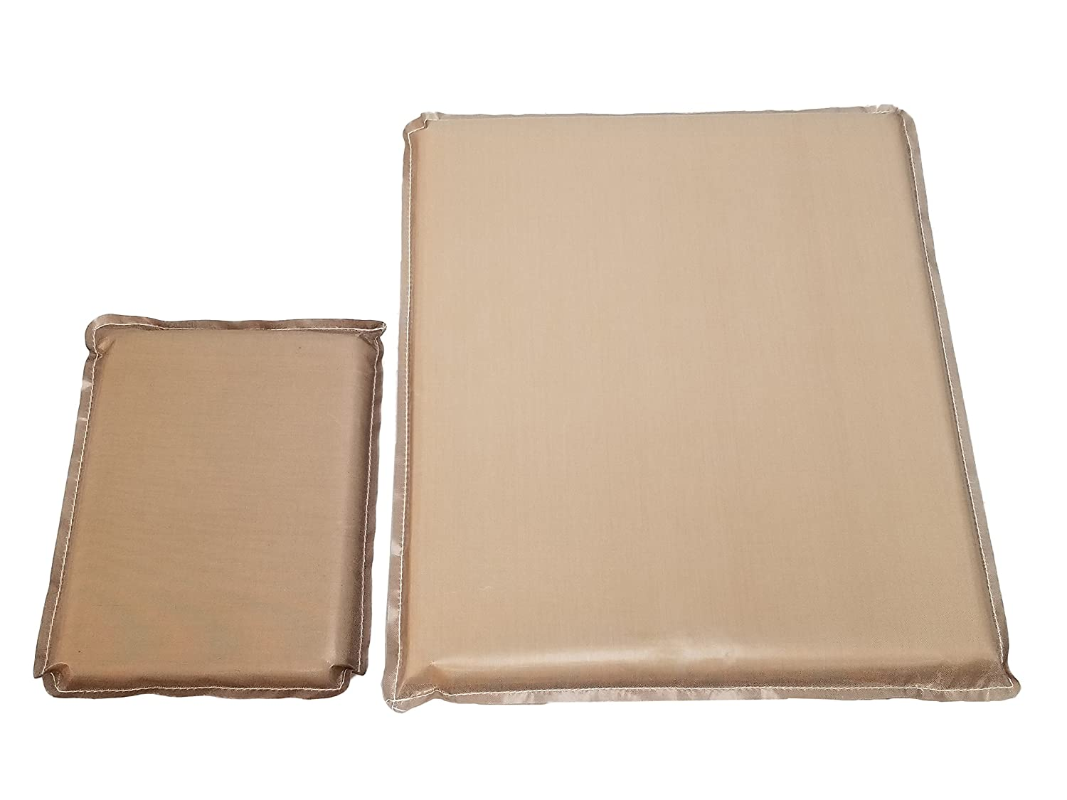 Heat Press Pillow Bundle (2 Pack) 6 x 8, 12 x 14 by Essentialware with 3/4 Thick Memory Foam TPPAK681214