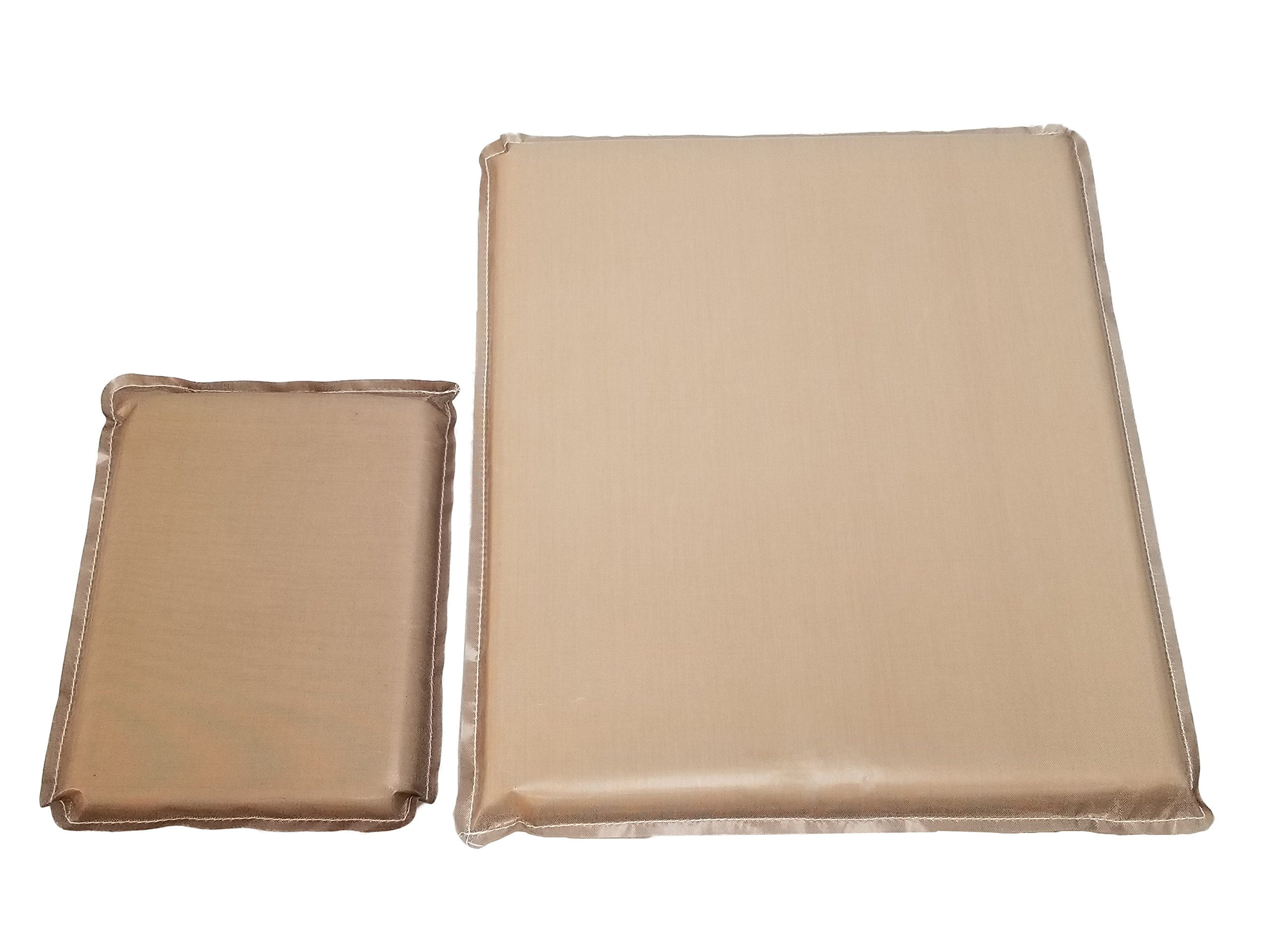Heat Press Pillow bundle (2 Pack) 6 x 8'', 12 x 14'' by Essentialware with 3/4'' Thick Memory Foam by Essentialware