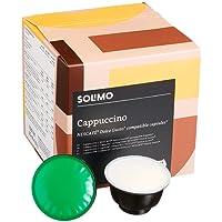 Marchio Amazon- Solimo Capsule Cappuccino. compatibili Dolce Gusto - caffè certificato UTZ- 96 capsule (6 x 16)