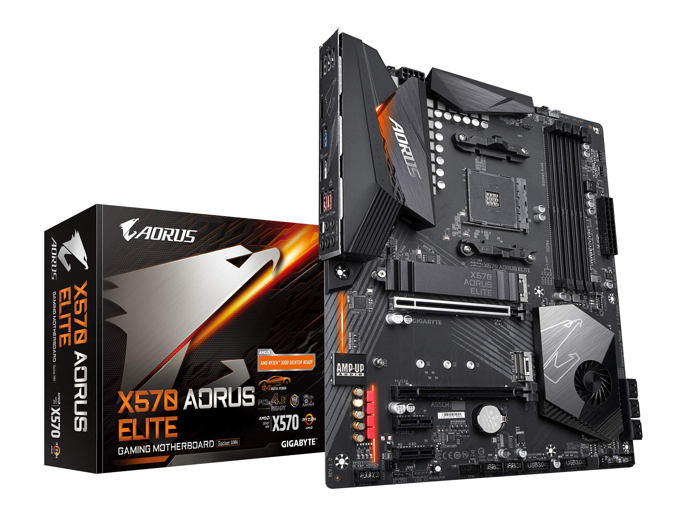 GIGABYTE X570 AORUS Elite (AMD Ryzen 3000/X570/ATX/PCIe4....