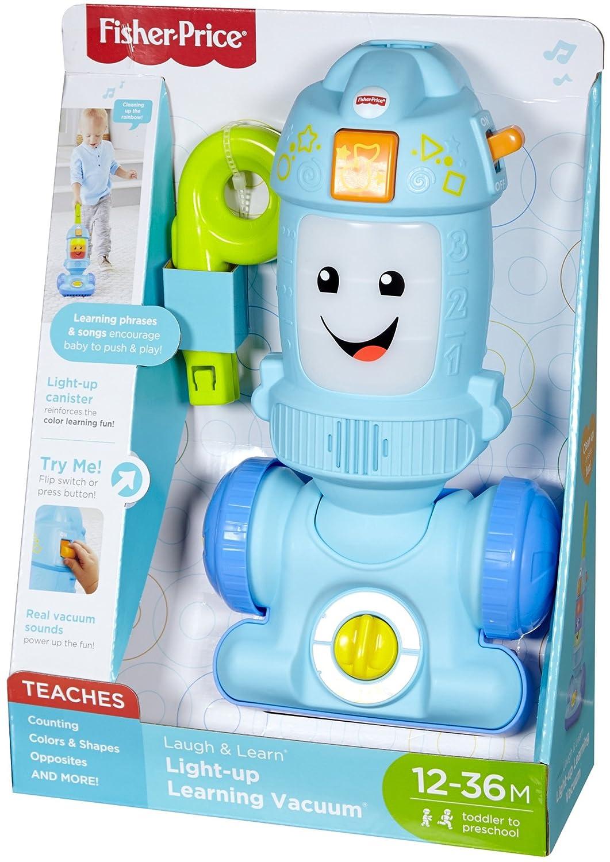 Multicolore Giocattolo per Bambini e Neonati Fisher-Price FNR97 Laugh Light-up Learning Vacuum