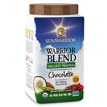 Sunwarrior Warrior Blend, Raw, Plant Based, Organic Protein, Meal Replacement