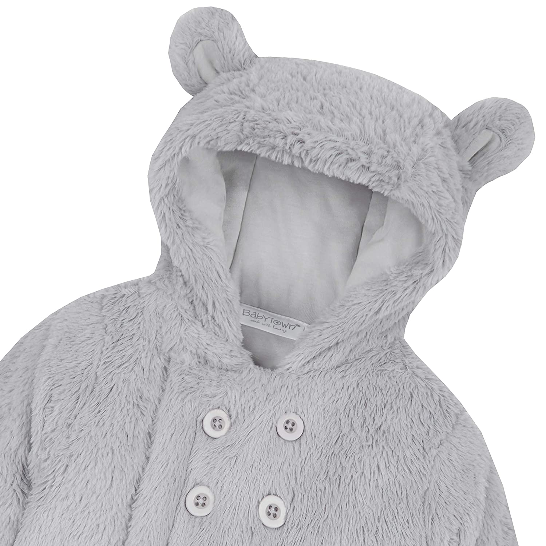 e86b77ac0 Metzuyan Unisex Baby Fluffy Pram Suit with Hood   Mittens ...