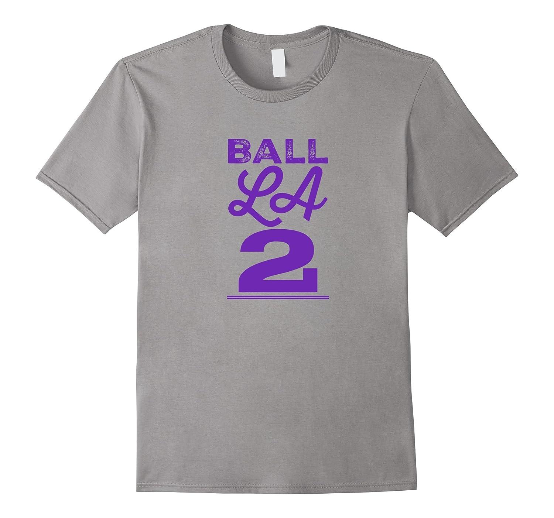 Ball LA T-shirt, Basketball Shirt, Lonzo Fan Novelty Tee-ANZ