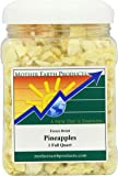 Mother Earth Products Freeze Dried Pineapples, Quart Jar