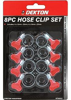 Colliers de serrage 10 x tuyaux en acier inoxydable pinces 25-40mm papillon pas besoin tournevis