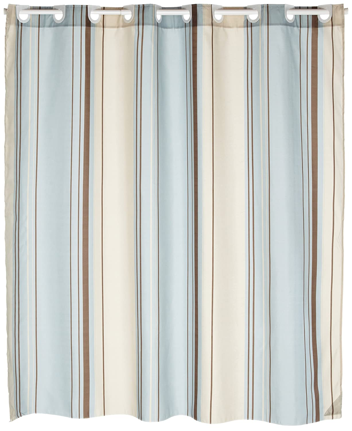 curtains curtain mainstays stripe striped ombre shower c fabric kp