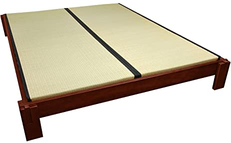 Amazon.com: Oriental Furniture Tatami Platform Bed - Walnut - Queen ...