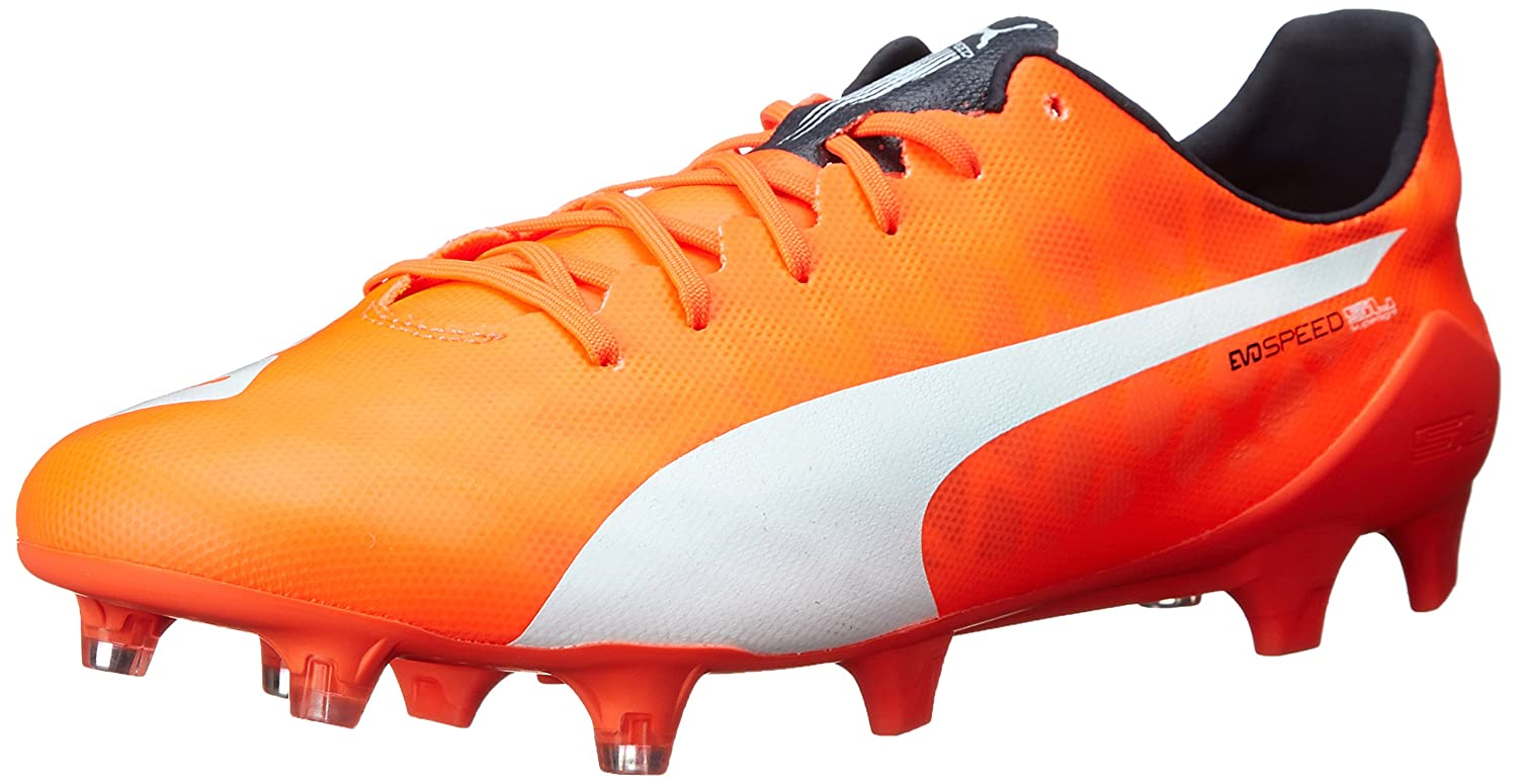 PUMA メンズ Evo Speed SL FG B00QJ09KM4 10 1/2 US|Lava Blast/White/Total Eclipse Lava Blast/White/Total Eclipse 10 1/2 US