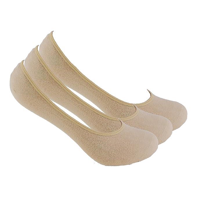 Calcetines INVISIBLES (3 pares.) salvapies. Se mantiene sujeto el calcetín al pie
