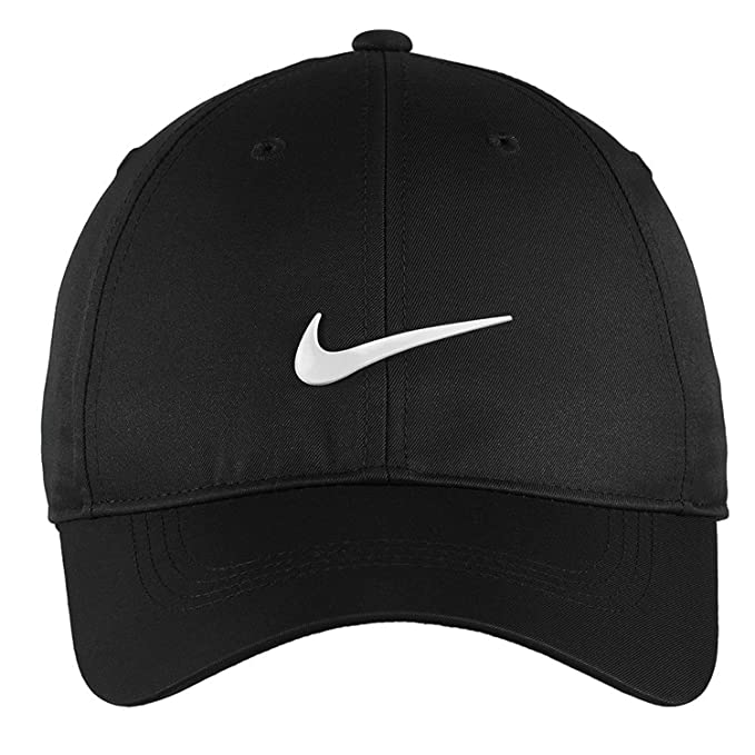 25277d3c Amazon.com : Nike Golf Dri-Fit Swoosh Front Cap, Black/White : Baseball Caps  : Clothing